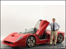 A recent picture released by Pininfarina shows Andrea Pininfarina posing next to the Ferrari P4/5, designed, engineered and built by the firm in Turin