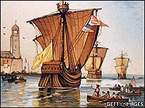 Dibujo de un viaje de Colón
