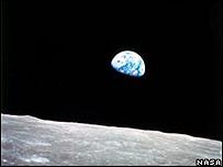 La tierra vista desde la luna (Foto NASA)