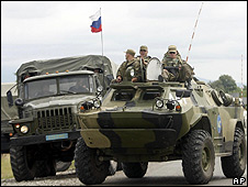 Russian peacekeeping troops in South Ossetia, 5 Aug 08