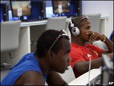 Olympic athletes surf the internet
