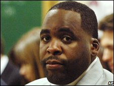Kwame Kilpatrick in court in Detroit, 7 August 2008