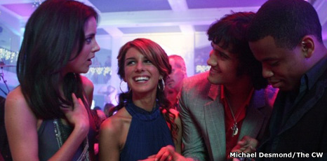 Jessica Stroup (Silver), Shenae Grimes (Annie), Michael Steger (Navid) and Tristan Wilds (Dixon)