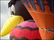 Hot air balloons at the Bristol International Balloon Fiesta 2008