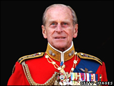 The Duke of Edinburgh watchingTrooping the Colour in June