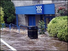 Police station flooded (picture by Bill Cairns)