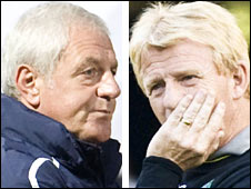 Rangers' Walter Smith and Celtic's Gordon Strachan