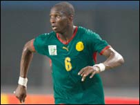 Cameroon's Stephane Mbia