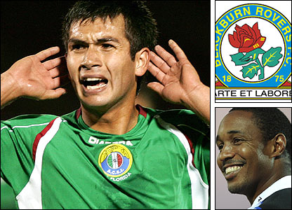 Blackburn's new signing Carols Villanueva will hope to impress boss Paul Ince