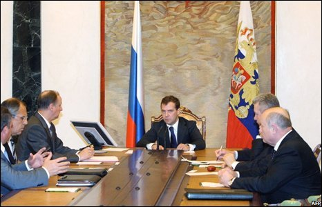 Russian President Dmitry Medvedev at the Kremlin in Moscow (08/08/2008)