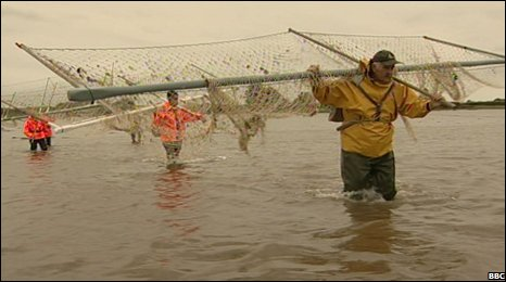 Haaf net fishermen