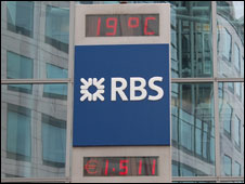 Sign outside RBS building
