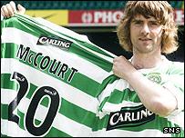 Celtic winger Pat McCourt