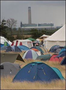 The campsite is about two miles from the power station