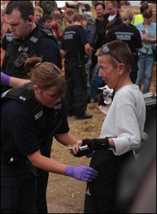 All visitors to the site are searched on entering and leaving the camp site