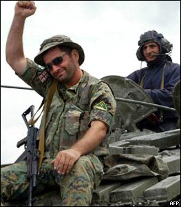 Грузинские солдаты настроены по-боевому