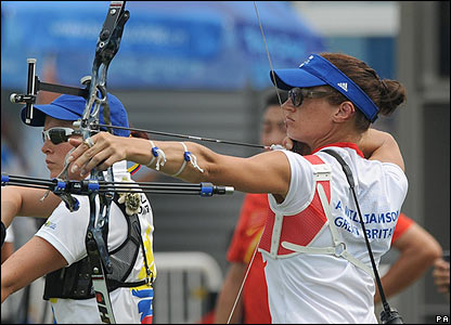 Alison Williamson competes in the archery
