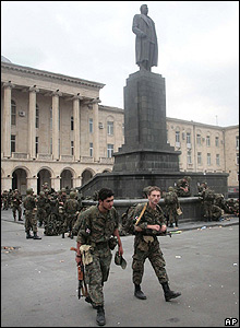 Georgian reservists in Gori, 9 Aug 08