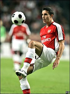 Arsenal player Robin van Persie