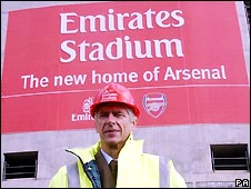 Arsenal manager Arsene Wenger after the club sold the naming rights to its new stadium