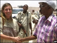 A German hostage meets Puntland's security minister