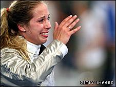 American sabre fencer Mariel Zagunis