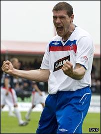 Rangers striker Andrius Velicka
