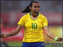 Marta scored Brazil's second goal