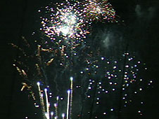 The fireworks at Cowes