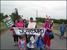 protesters from Scarborough