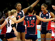 The US women's indoor volleyball team