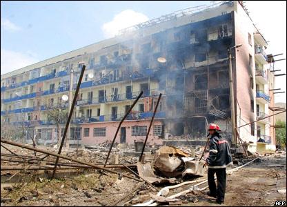 Российские ВВС атаковали грузинский город Гори