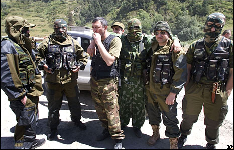 Ethnic Ossetian fighters  (09/08/08)