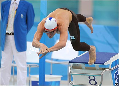 Chris Cook fails to advance from the men's 100m breaststroke semi-finals
