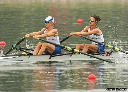Helen Casey and Hester Goodsell finish third behind Germany and Canada in the lightweight double scull