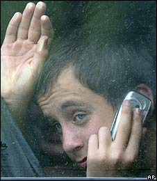 A youth in North Ossetia after fleeing South Ossetia