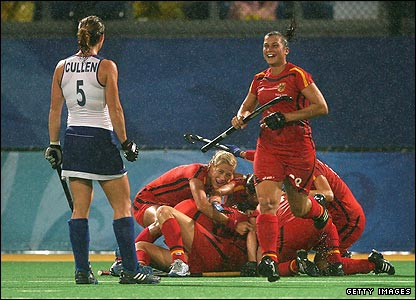 The British women's hockey team suffer a disappointing 5-1 defeat to Olympic champions Germany