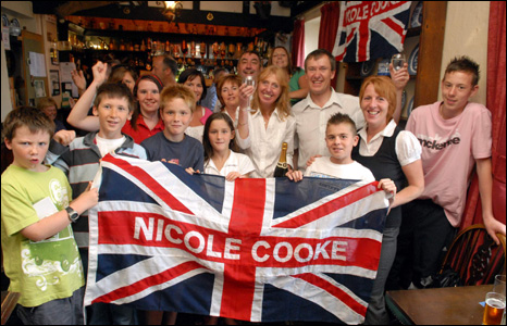 Denise and Tony Cooke celebrated their daughter's gold medal surrounded by family and friends