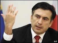 Mikhail Saakashvili, presidente de Georgia