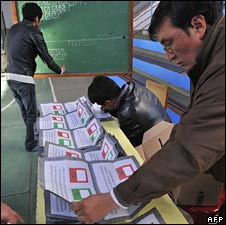 Counting of votes after the 10 August referendum