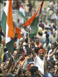 Hindu protesters in Jammu