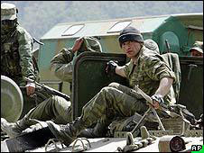 Russian troops in South Ossetia