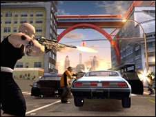 "Grab from the computer game ""Crackdown"" (Pic from Realtime Worlds)"