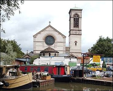 St. Barnabus church, on the canal behind the Jericho Boatyard