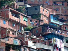 A barrio in Caracas