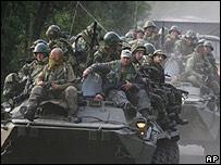 Российские военные в районе села Хурча