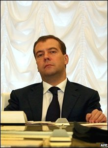 Dmitry Medvedev at the Kremlin in Moscow