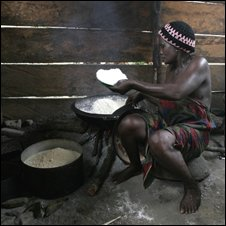 Making cassava flour