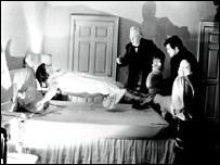 "Escena de la película ""El Exorcista""."