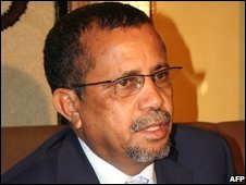 Mauritania's toppled Prime Minister Yahia Ould Ahmed El-Ouakef, file pic from June 2008
